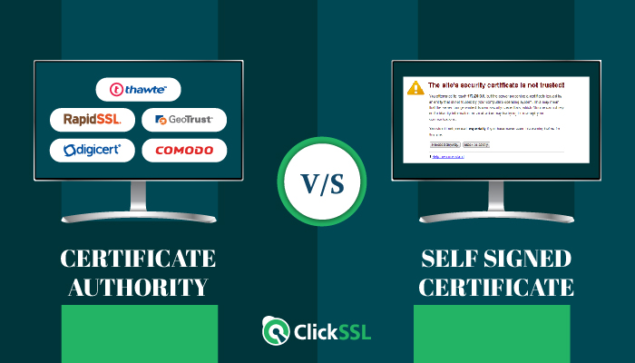 self signed certificate vs certificate authority