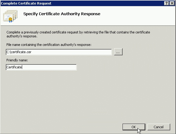 SSL Cetificates in IIS7