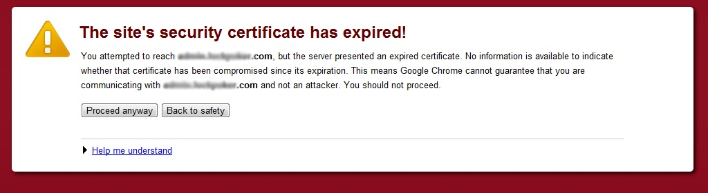 security certificate has expired