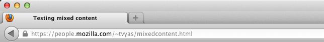 Mozilla block Mix Content