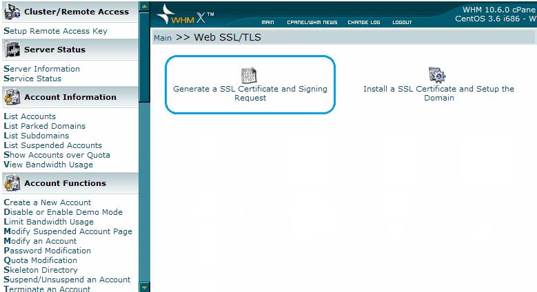 Generate SSL certificate & signing request
