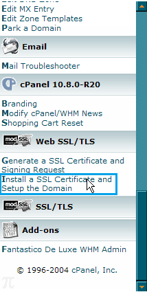 Install SSL certificate and Set up the domain