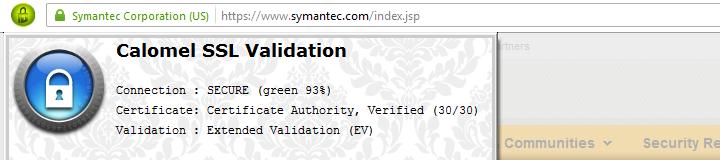 Calomel SSL Validation Banner