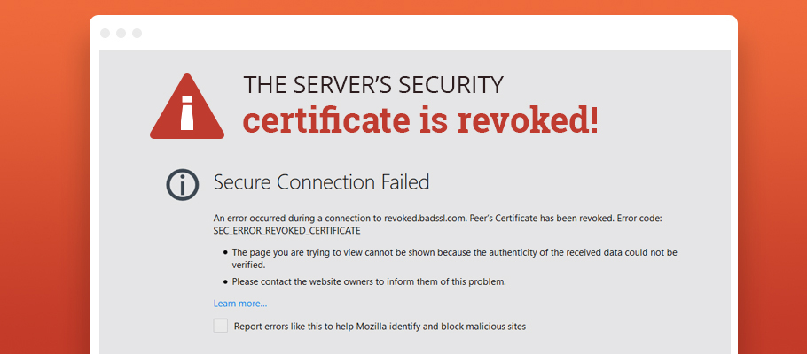 website security certificate revoked