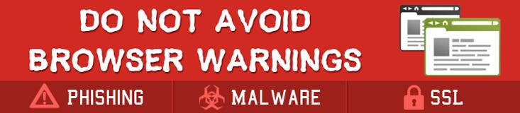do not avoid browser warning
