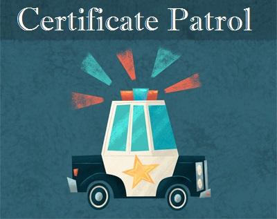 certificate patrol