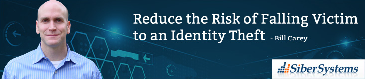 Reduce the Risk copy to an Identity Theft