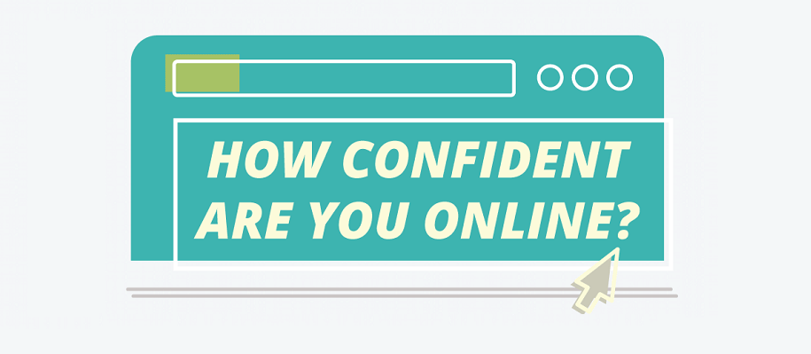 how confident are you online infographic
