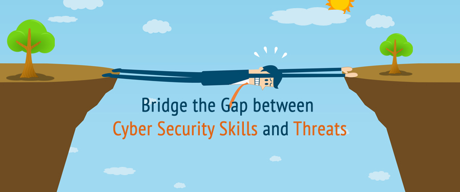 gap between cyber security skills threats