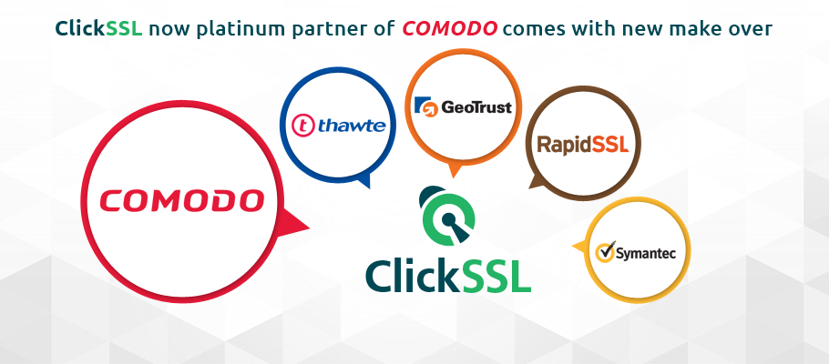 ClickSSL comodo platinum partner and redesign