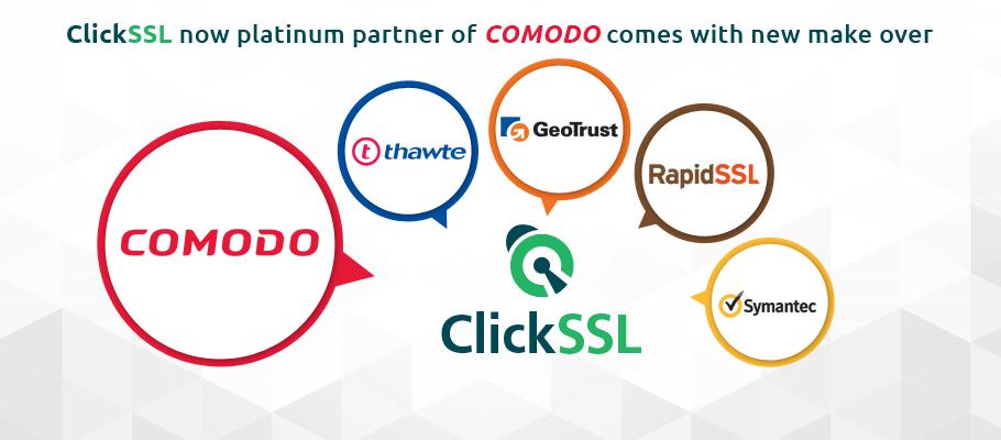 clickssl announcement comodo platinum partner and redesign