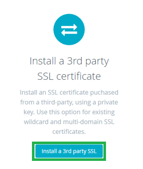 installs third party ssl on bigcommerce