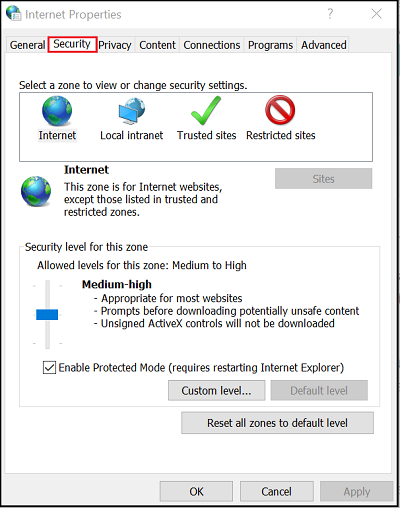 Change Your Internet Security And Privacy Level