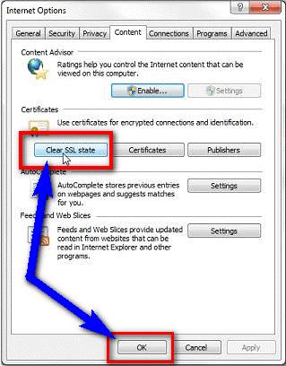 Clear SSL Cache