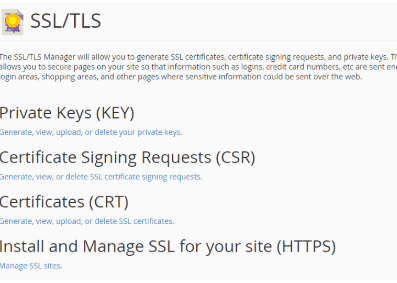 install and manage ssl for your site