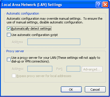 local area network setting