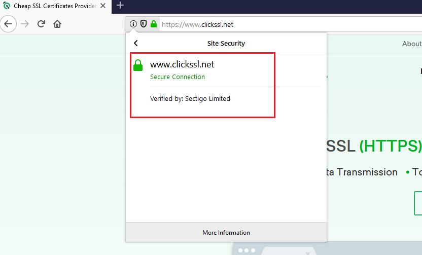 how to view ssl certificate details in firefox browser