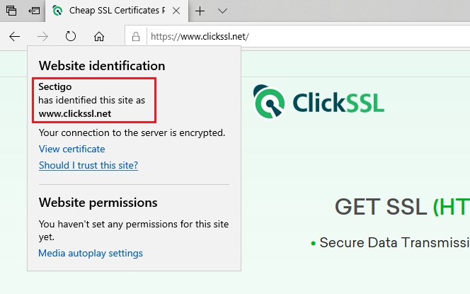 how to view ssl certificate details in microsoft edge