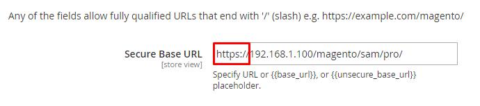 magento secure base url