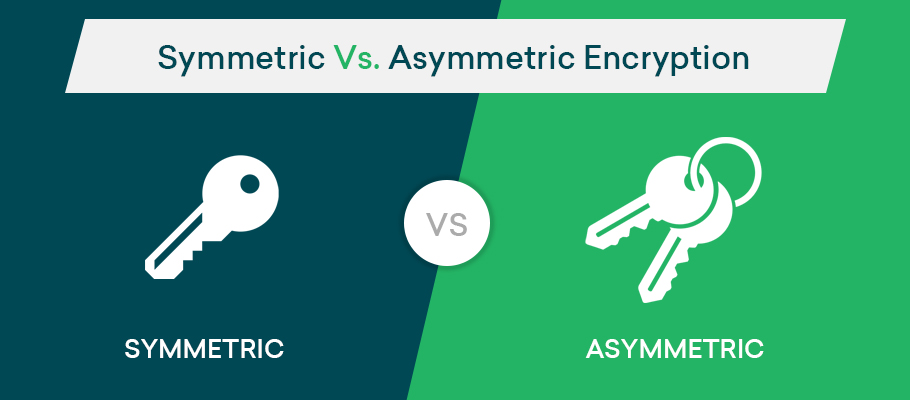 symmetric encryption vs asymmetric encryption