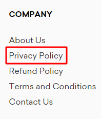 company privacy policy