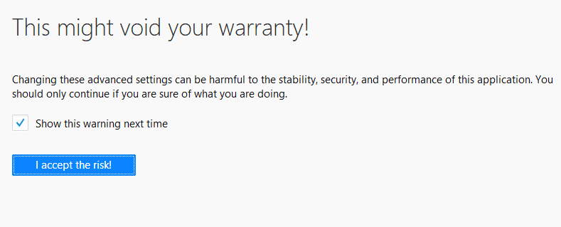 this might void your warranty
