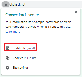 view ssl certificate in chrome browser v 60