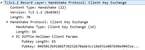 client key exchange handshake protocol