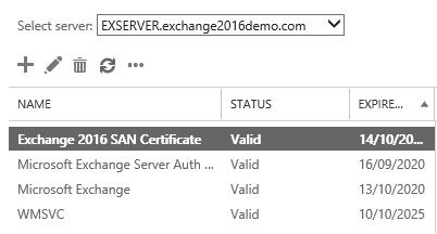 microsoft exchange server ssl certificate valid now