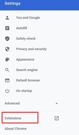 google chrome extension setting