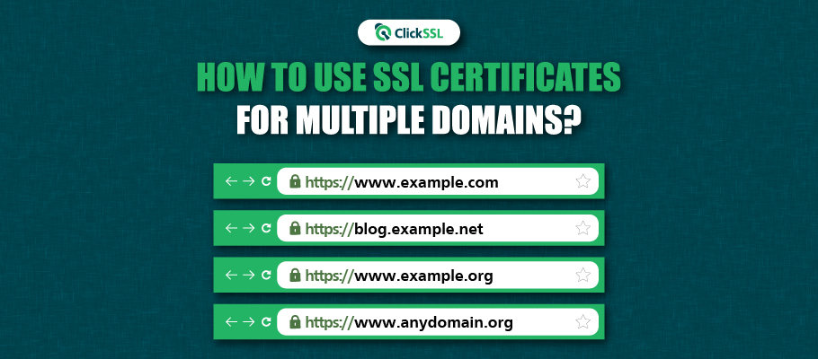 how to use ssl certificates for multiple domains