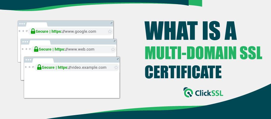 what is multi domain ssl certificate
