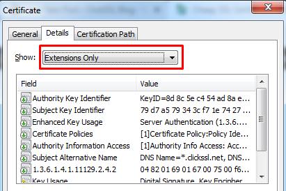 san ssl certificate detail search